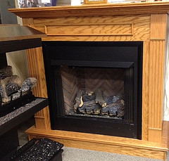 COMPLETE Vent Free Fireplace with Box, Logs, and Mantel Surround -- NATURAL GAS ONLY ONLY $1295.00