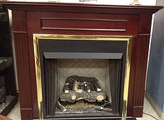 COMPLETE Vent Free Fireplace with Box, Logs, and Mantel Surround -- NATURAL GAS ONLY ONLY$1295.00