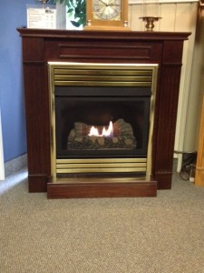 Vent Free BEDROOM-APPROVED Fireplace with Dark Cherry Mantel - NATURAL GAS ONLY - DISPLAY MODEL Regular Retail - $1685.00 FINAL PRICE - $695.00