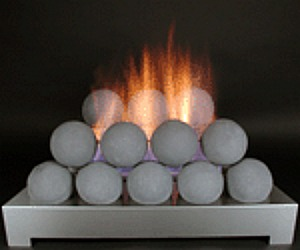 Vent Free Fire Balls Modern Contemporary